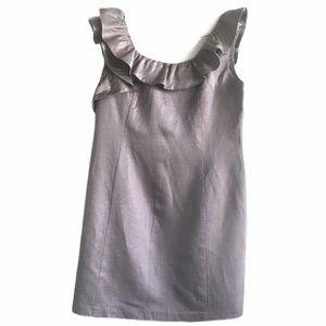 Oasis Grey Scoop Neck Sleeveless Sheath Dress 10